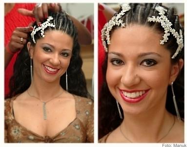 Teste De Penteado E Maquiagem Do Dia Da Noiva Do JJ Cabeleireiros