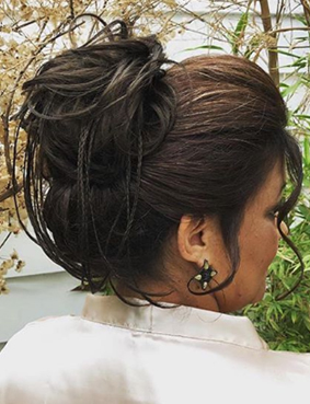 dia da madrinha JJ Cabeleireiros - penteado e maquiagem