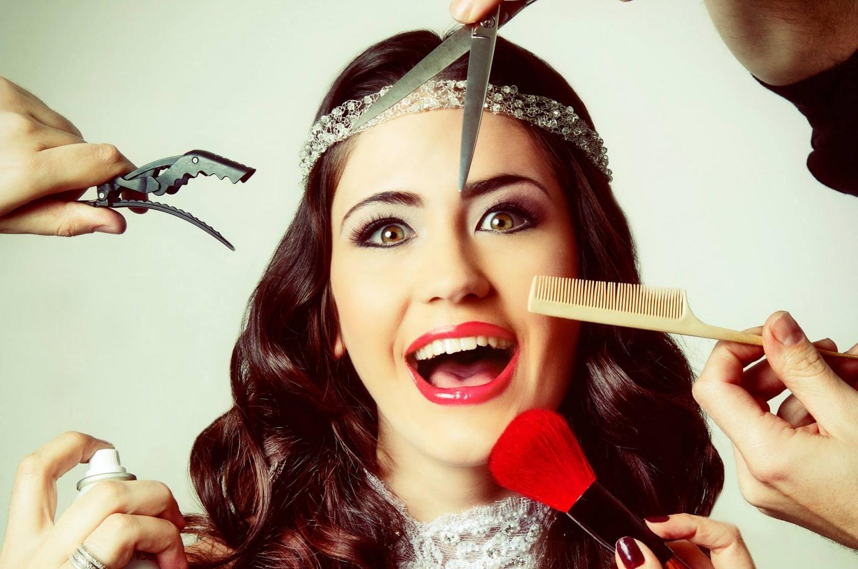 previas penteado maquiagem no Dia da Noiva do JJ Cabeleireiros